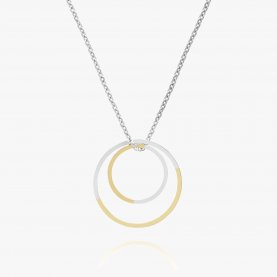 Two Tone Double Circle Necklace | The Collaborative Store