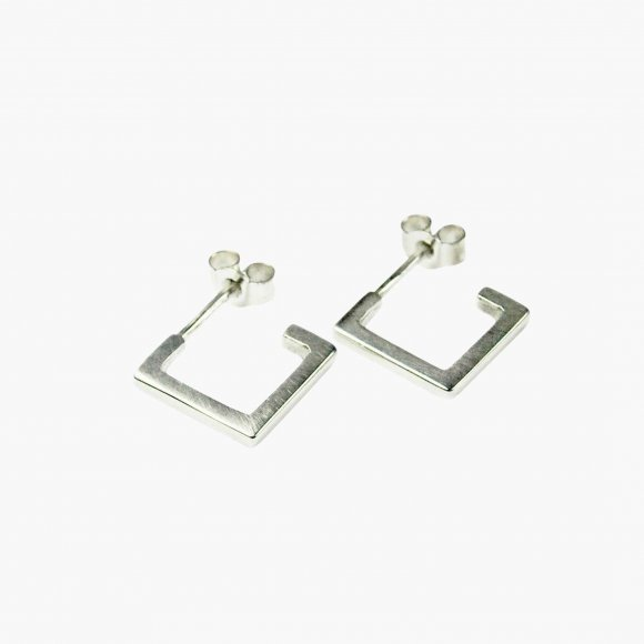 Silver Square Hoop Earrings | The Collaborative Store