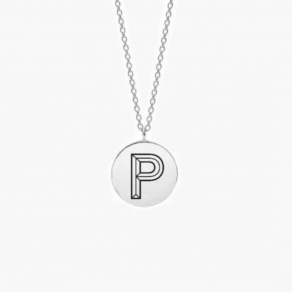 Facett Initial P Pendant - Silver | The Collaborative Store