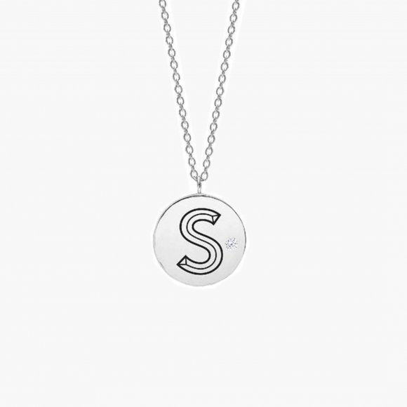 Facett Initial S Pendant - Diamond | The Collaborative Store