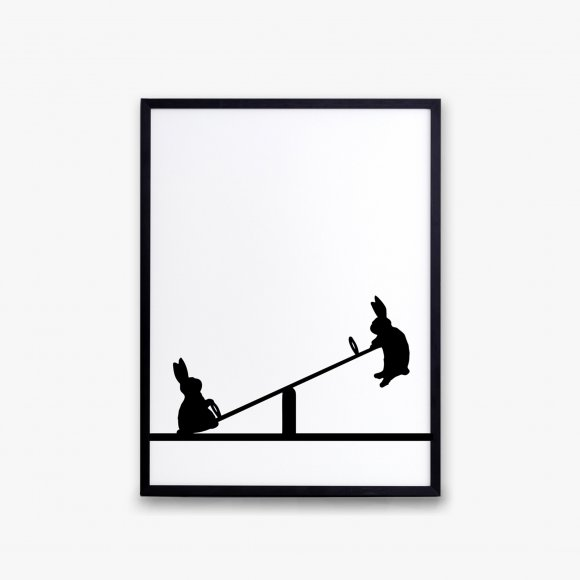 Seesaw Rabbit Print | The Collaborative Store