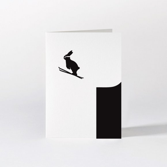 Ski Jumping Rabbit Card  | The Collaborative Store