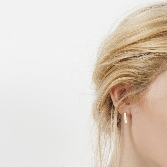 FLORA Bar Earrings 9ct gold | The Collaborative Store