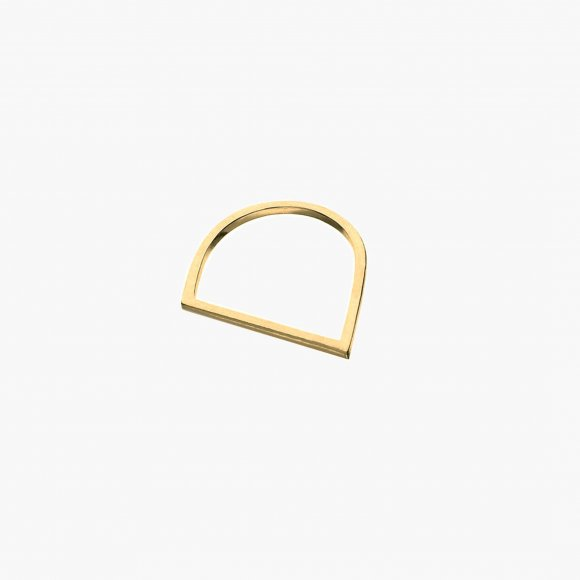 Gold Slant Ring  | The Collaborative Store