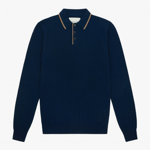 King & Tuckfield Textured Polo  | The Collaborative Store