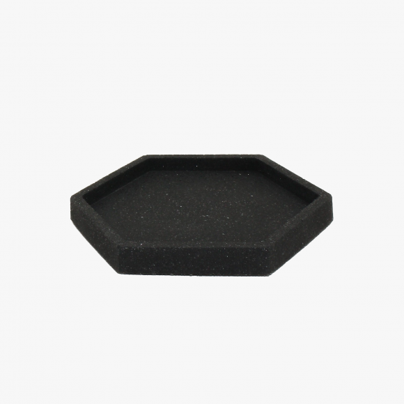 Hexagonal Granite Trinket Tray in Black | The Collaborative Store