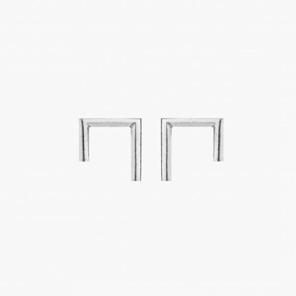 Silver Cornered Earrings | The Collaborative Store