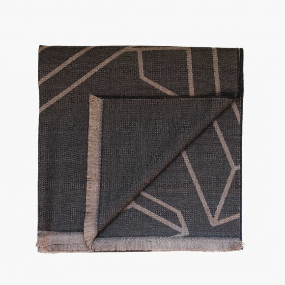 Grey Geometric Pattern Scarf | The Collaborative Store