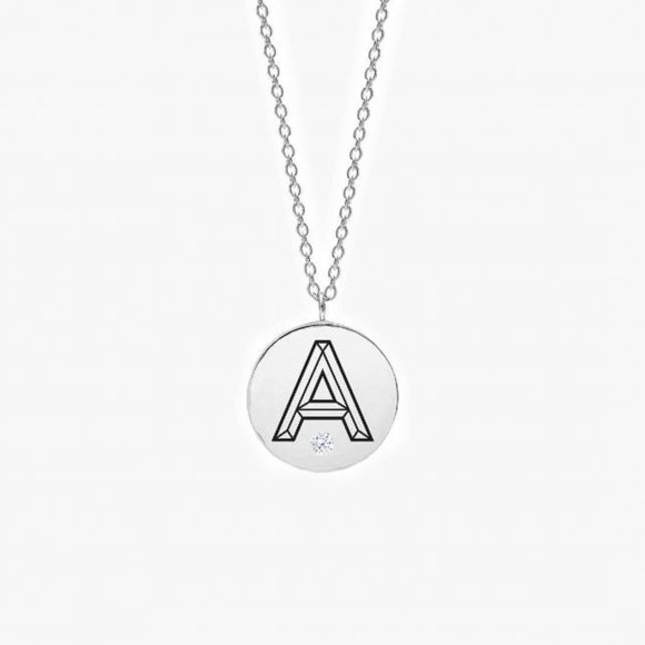 Facett Initial A Pendant - Diamond | The Collaborative Store