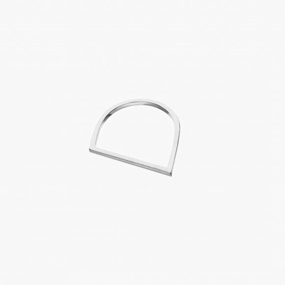 Silver Slant Ring  | The Collaborative Store