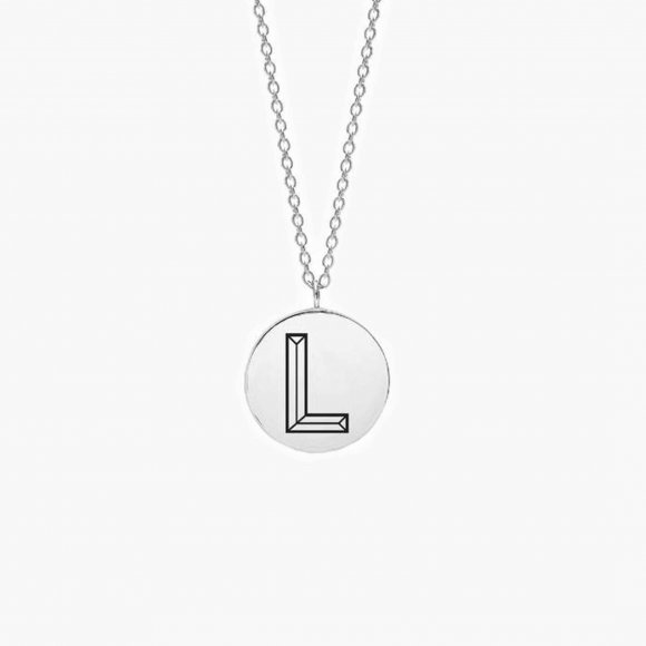 Facett Initial L Pendant - Silver | The Collaborative Store