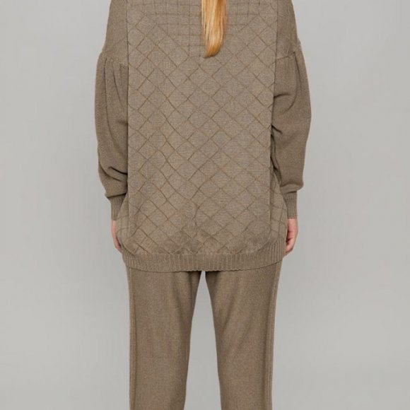 Luka Knitted Pants in Taupe | The Collaborative Store
