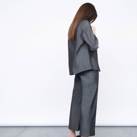 Cropped Coated Cotton Trousers | The Collaborative Store