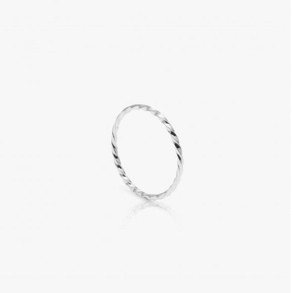 Skinny Twisted Silver Stacking Ring | The Collaborative Store