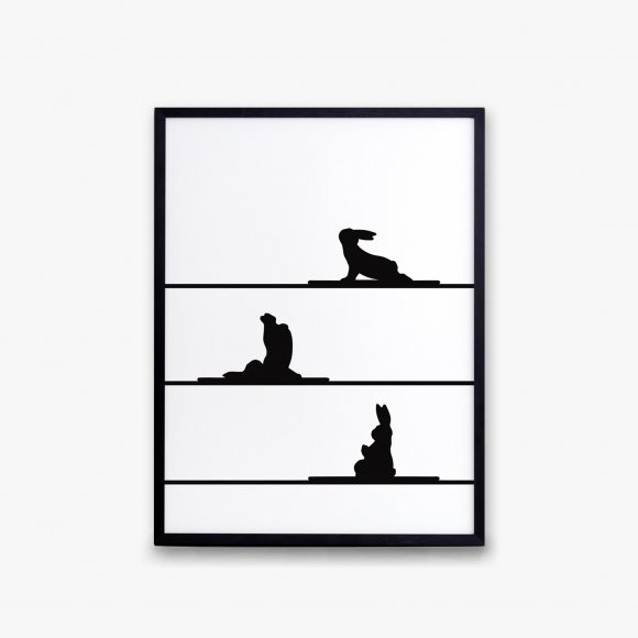 Yoga Rabbit Print | The Collaborative Store