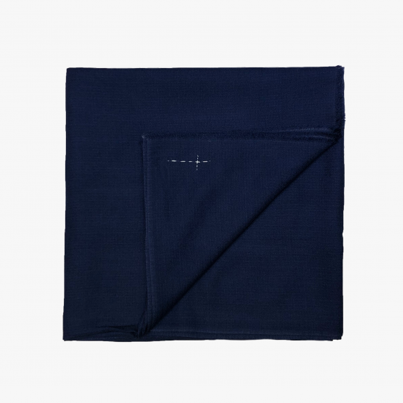 Large Woven Cashmere Scarf in Deep Blue | The Collaborative Store