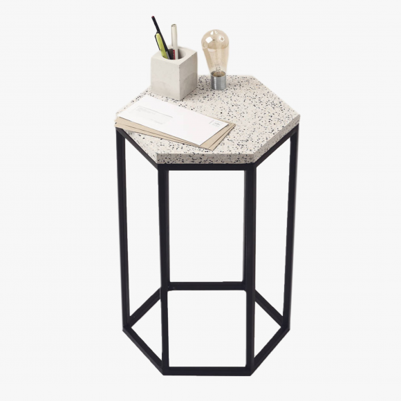 Hexagonal Terrazzo Side Table | The Collaborative Store