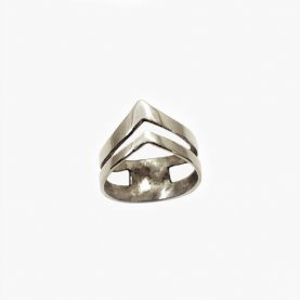Silver Double Arrow Knuckle Ring | The Collaborative Store