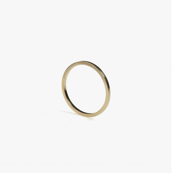 Skinny Square Gold Stacking Ring | The Collaborative Store