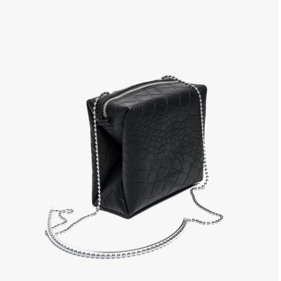 Water Resistant Croc Leather Cubist Bag | The Collaborative Store