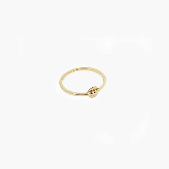 Gold Disc Midi Ring | The Collaborative Store