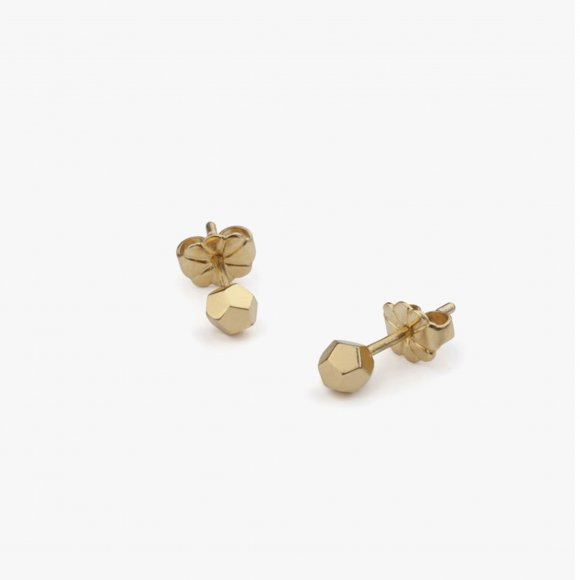 Gold Dodecahedron Stud Earrings | The Collaborative Store