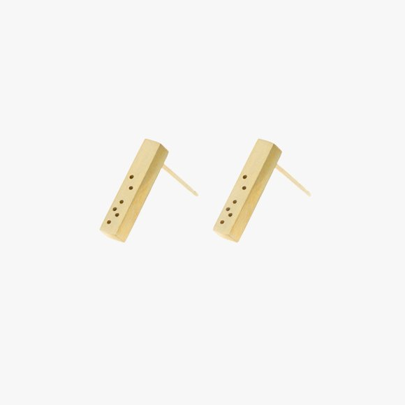 FLORA Bar Earrings 9ct Solid Gold | The Collaborative Store