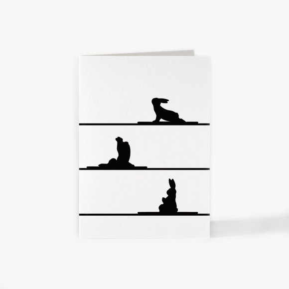 Yoga Rabbit Card | The Collaborative Store