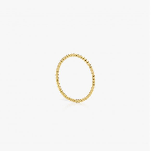 Skinny Ball Gold Stacking Ring | The Collaborative Store