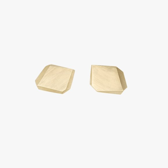 FIONN Solid Gold Rock Studs | The Collaborative Store