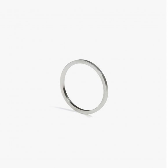 Skinny Square Silver Stacking Ring | The Collaborative Store