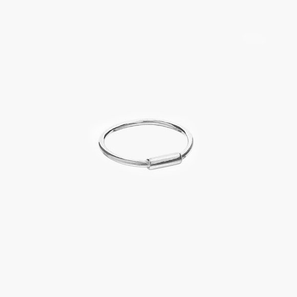 Silver Tube Midi Ring | The Collaborative Store
