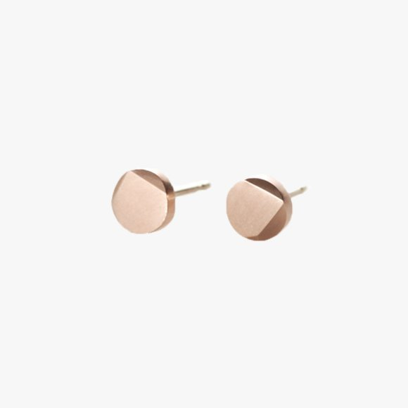 FIONN Large Solid Rose Gold Stud Earrings | The Collaborative Store