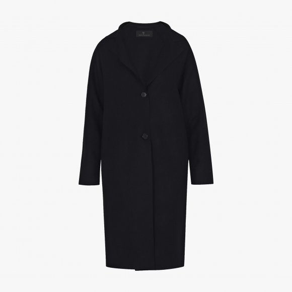 Structured Wool Coat in Deep Navy | The Collaborative Store