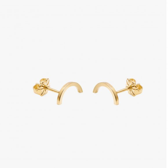 Gold Mini Arc Stud Earrings | The Collaborative Store