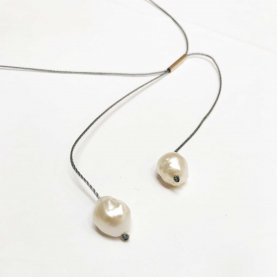 Twin Pearl Rosebud Necklace | The Collaborative Store
