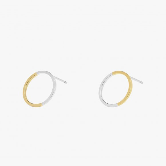 Two Tone Circle Stud Earrings | The Collaborative Store