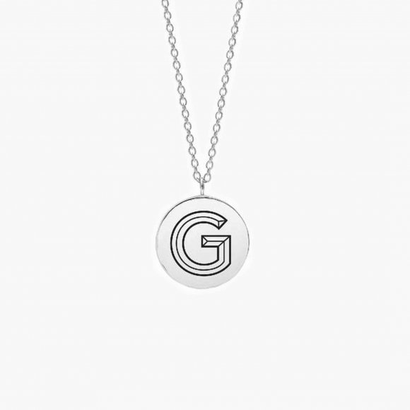 Facett Initial G Pendant - Silver | The Collaborative Store