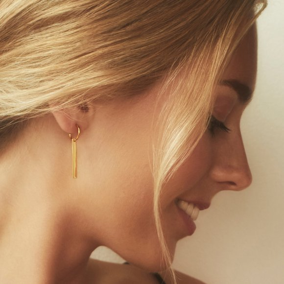 The Line Hoop Earrings | The Collaborative Store