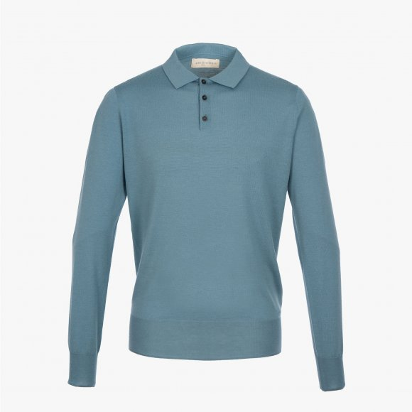 Long Sleeve Merino Polo Shirt | The Collaborative Store
