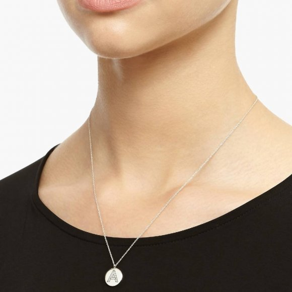 Facett Initial E Pendant - Silver | The Collaborative Store
