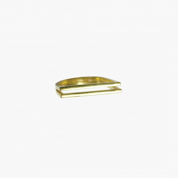 Double Gold Slant Ring  | The Collaborative Store