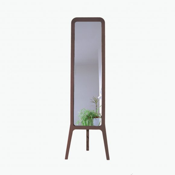 Free Standing Walnut R-Mirror  | The Collaborative Store