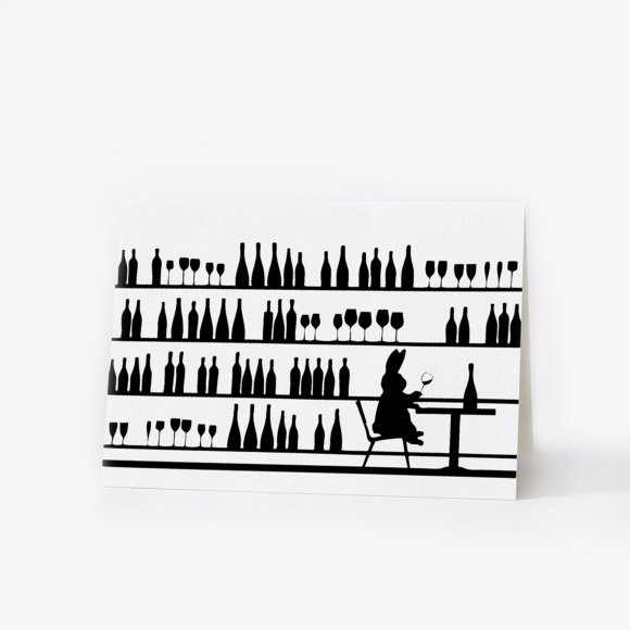 Wine Tasting Rabbit Card | The Collaborative Store