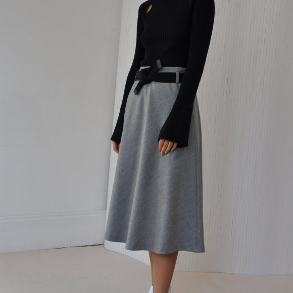 Joanne A-Line Wool Blend Skirt | The Collaborative Store