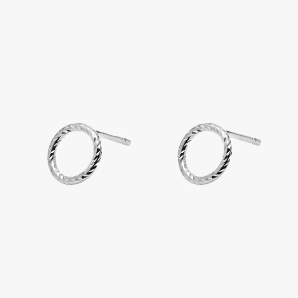 Mini Circle Faceted Earrings | The Collaborative Store