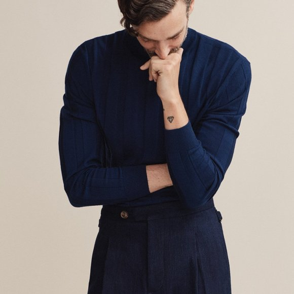 Merino Polo Neck | The Collaborative Store