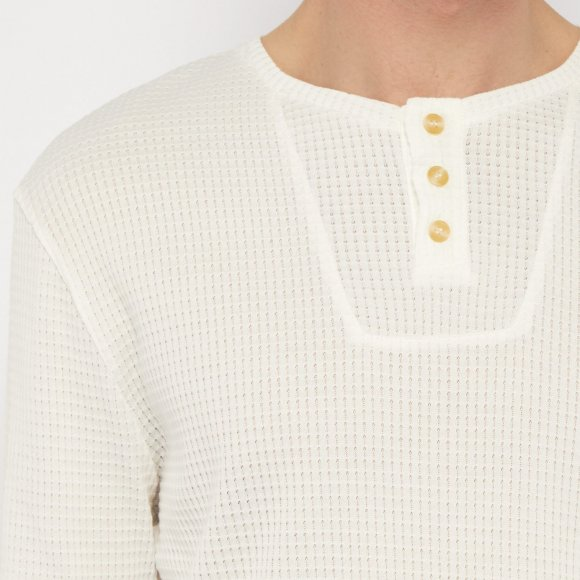 Waffle Effect Mako Cotton Top | The Collaborative Store